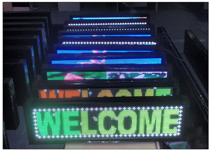 7 Color Scrolling Outdoor Programmable LED Sign 1R1G1B with Aluminium Alloy Steel Cabinet